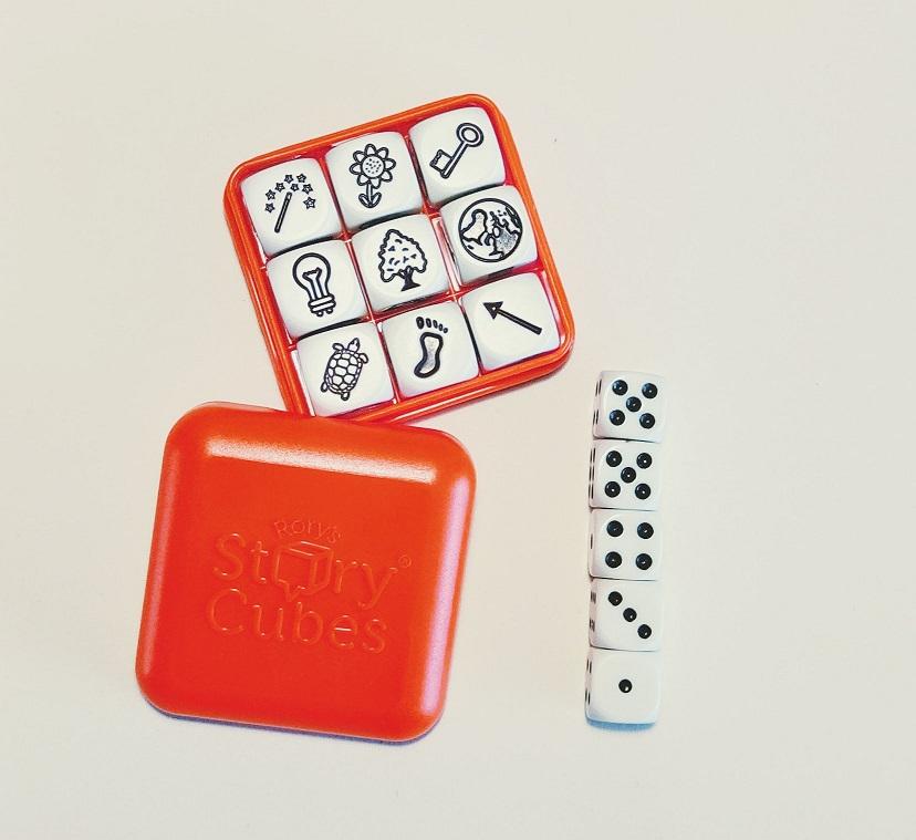 Personage maken met Story Cubes