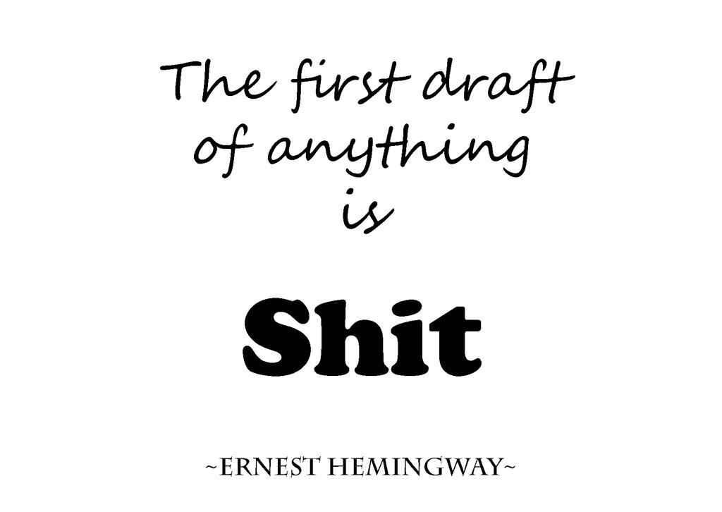 schrijvers advies first draft Ernest Hemingway