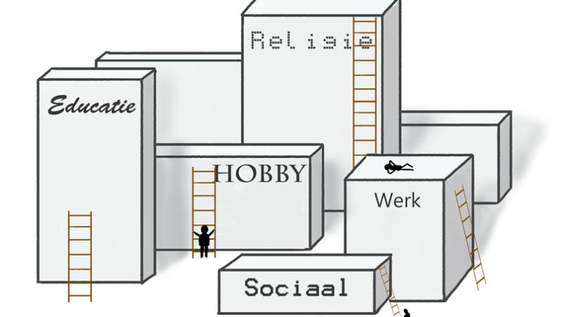 Klimwedstrijd op ladders